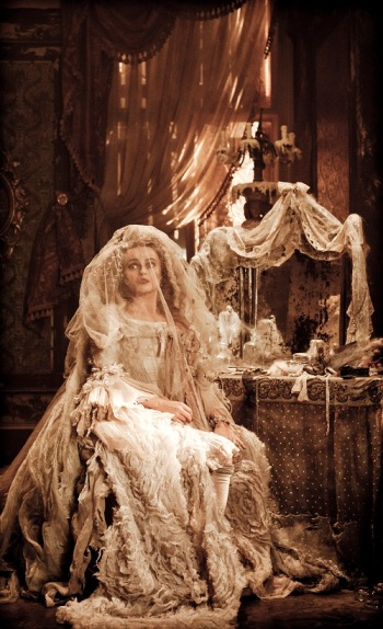 Helena Bonham Carter as Miss Havisham in an upcoming film remake of Great Expectations