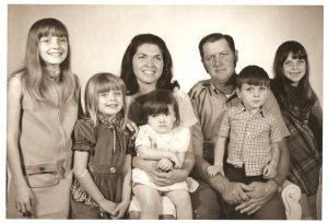 The photo of my family that ran in the Bradenton Herald newspaper along with the article about our house burning down.