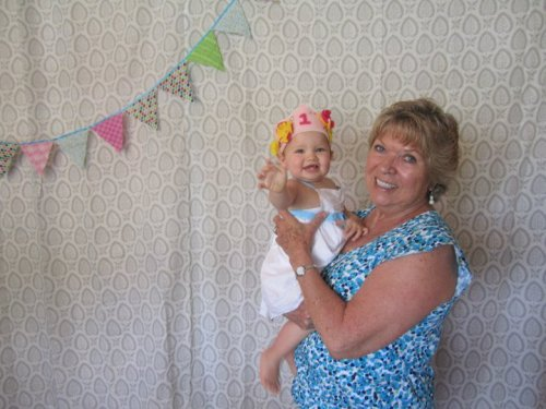 Mom and Genevieve, one of her two great-grandchildren (she also has 12 grandchildren).