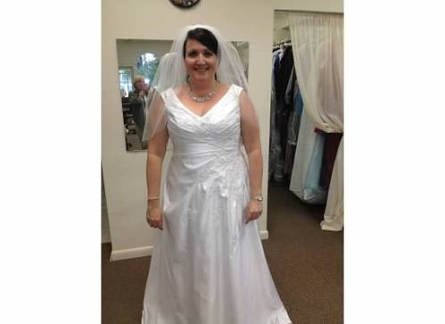 Bridal gown fitting, May 2012.