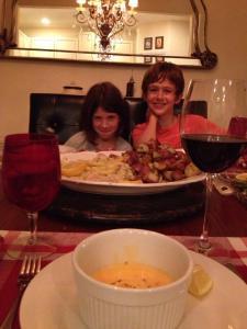 Dinner is served, February 2013.