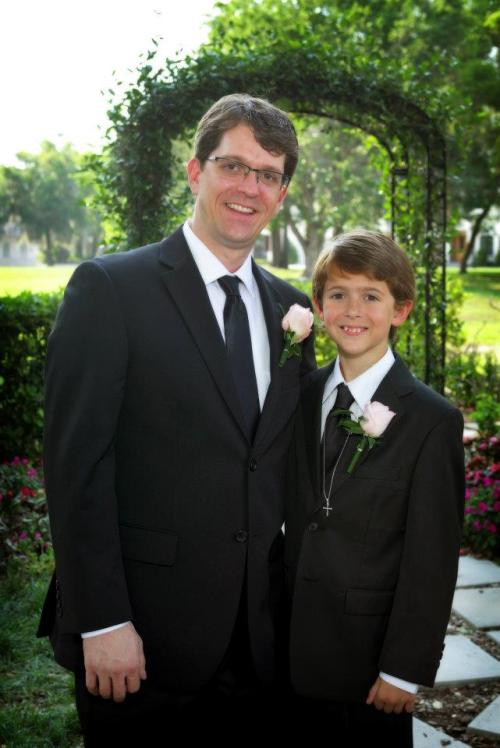 Michael and my step-son Matt who was the Best Man at our wedding last year.