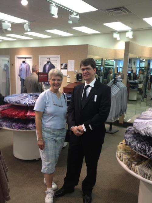 Michael tux shopping with his mom, May 2012.